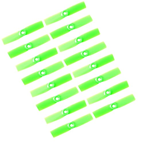 Genuine Gemfan 3030 (3x3) Propellers by RAYCorp. 16 Pieces(8CW, 8CCW) Green 3-inch Mini Quadcopters & Mutlirotors Props + RAYCorp Battery Strap