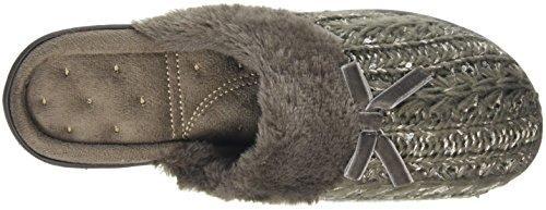Isotoner Sparkle Knit Pillowstep, Zapatillas de Estar por Casa para Mujer Marrón - marrón (Mink)