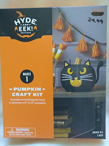 Hyde and EEk Boutique Halloween Black Cat Pumpkin Decorating Kit 12Pc ()