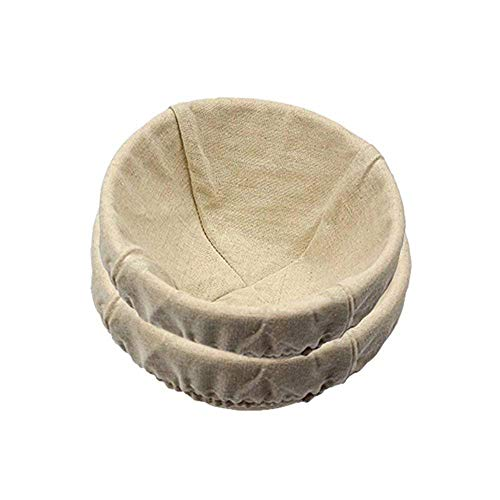 2Paquete de 10inch redondo Brotform Banneton Proofing cestas de pan, tazón para hornear masa con Rising patrón (Bonus,...