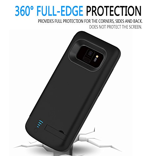 RUNSY Samsung Galaxy S9 Battery circumstance 5000mAh Rechargeable Extended Battery Charging circumstance External Battery Charger circumstance Backup electricity Bank circumstance having Kickstand 58 inch Battery Charger Cases