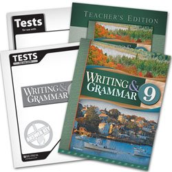 Writing and Grammar 9 Subject Kit -- Student, Teacher, Test, Answer Key