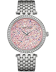 Caravelle New York Womens 43L194  Swarovski Crystal Stainless Steel Watch