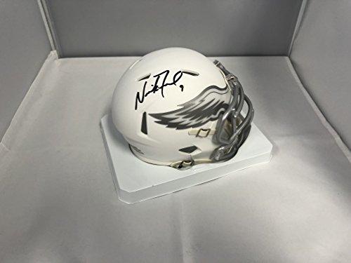 Nick Foles Signed Autographed Philadelphia Eagles RARE ICE SPEED Mini Helmet COA & Hologram from Signature Dog Autographs