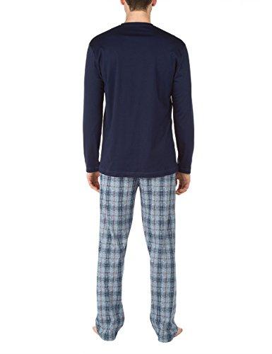 CALIDA mens 100% cotton knit pajamas set notting hill 46466/376 (medium) by Calida (Image #2)