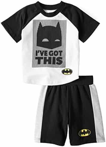 Batman Boys T-Shirt /& Woven Shorts Clothing Set Warner Bros