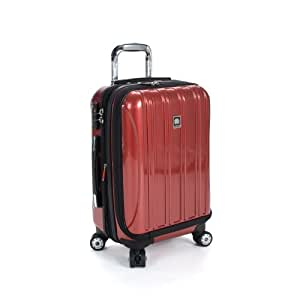 Delsey Luggage Helium Aero International Carry On Expandable Spinner Trolley, Brick Red, One Size
