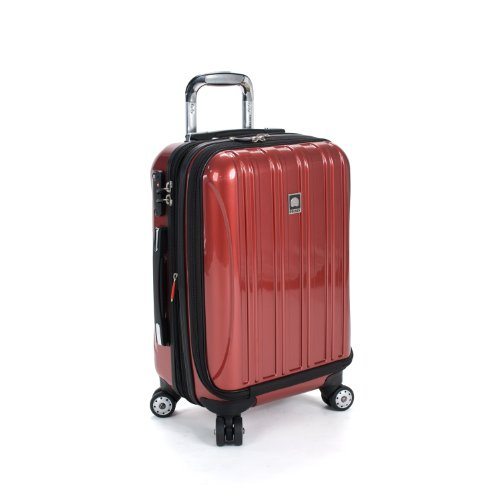 Delsey Luggage Helium Aero International Carry On Expandable Spinner Trolley, Brick Red, One Size by DELSEY Paris
