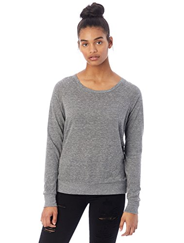 Raglan Sweatshirt (Alternative Women's Slouchy Pullover, Grey, X-Large)