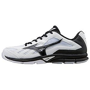 Mizuno Men's Players Trainer Turf Shoe, White/Black, 9.5 M US