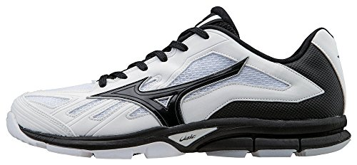 Mizuno Men's Players Trainer Turf Shoe, White/Black, 11.5 M US