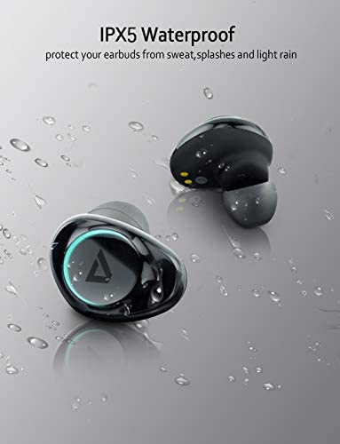 ABLEGRID Pyxis True Wireless Earbuds, Bluetooth 5.0 Touch Control in-Ear Headphones TWS Earphones with CVC6.0 Mic, 25H Playtime with Charging Case, IPX5 Waterproof Sport Earbuds for Running, Fitness 41RtpVWwjiL