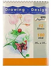 Digital Sketch Pad White Paper, 25x35cm, 180Gm