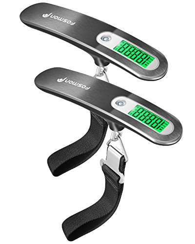 Digital-Luggage-Scale-2-Pack-Fosmon-Stainless-Steel-Digital-Hanging-Luggage-Weight-Scale-Up-to-110LB-with-Tare-Function-Silver