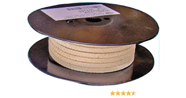 Palmetto 1347AF Series Synthetic with PTFE /& Lube Compression Packing Seal 3//16 Square White 10 Length