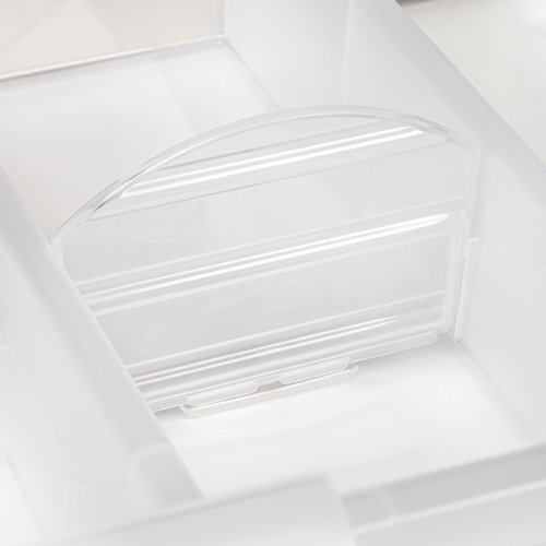 IRIS Large Divided Media Storage Box, Clear by IRIS USA, Inc. (Image #6)