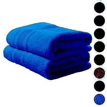 S S - Pack de 2 Toallas de baño Extra Grandes, Toallas de baño 100% algodón Egipcio Peinado 85 cm x 200 cm: Amazon.es: Hogar