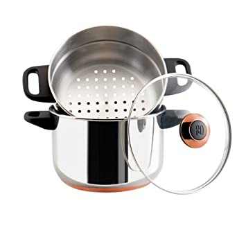 Paula Deen Signature Stainless Steel 3 Quart Stack And Steamer