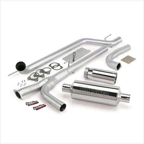 BANKS 48123 Single Monster Exhaust System, 2009 5.6L Nissan Titan