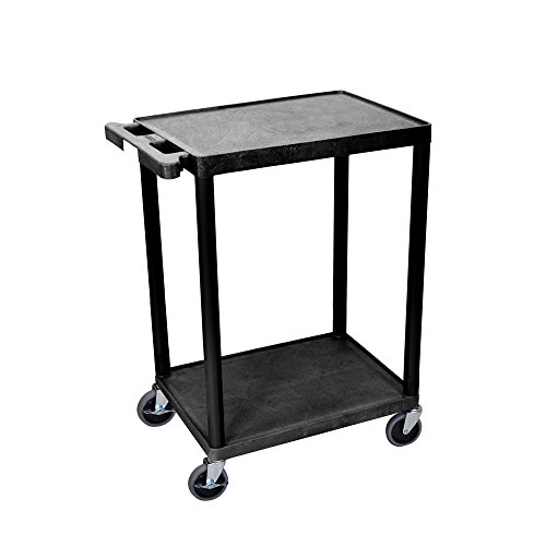 Luxor Multipurpose Utility Cart with 2 Shelf - Black