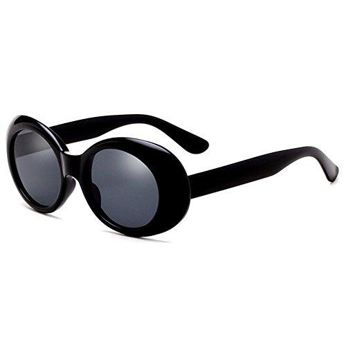 Homme Retro Lunettes Mirrored Glasses Goggles Light de hibote UV400 Femme soleil Noir Rond qC4fw8X