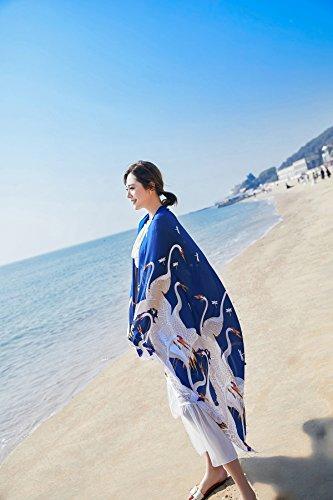 Sarong da bagno Blu Grande Sciarpe e Scialli Extra UV ragazze Wrap Gru Stole Spiaggia Felix amp; Pareo Bambine SiLK Protezione Donna solare Copricostumi Costumi gxwqqzR1
