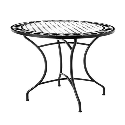 Mesa de jardin de Comedor de ceramica Negra de 75x90 cm - LOLAh