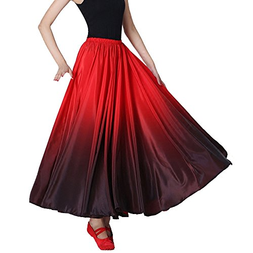 Jupe Femmes Gradient Performance Rouge noir Danse Rouge Noir Backgarden TgYwqtaw