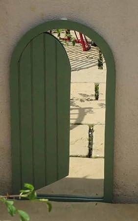 Garden Mirror; Medium Open Door Illusion Mirror & Garden Mirror; Medium Open Door Illusion Mirror: Amazon.co.uk ...
