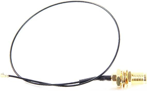 U.FL IPEX MHF4 a RP-SMA 0,81 mm RF Pigtail Cable Antena para enrutador inalámbrico NGFF/M.2 7260NGW 8260NGW 8265NGW, paquete de 2