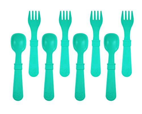 Re Play 83002 Utensils Aqua 8 Count