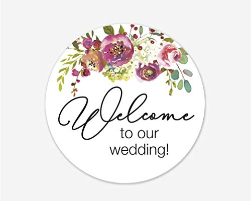 Welcome to Our Wedding Stickers, Hotel Welcome Bag Labels Wedding and Bridal Shower Event Favor Labels (#379-025) -