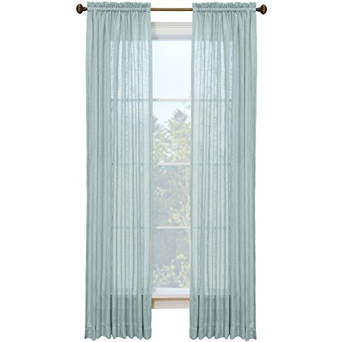 Style Selections Kenna 84-in L Solid Mineral Rod Pocket Window Curtain Panel (Style Selections Rod)