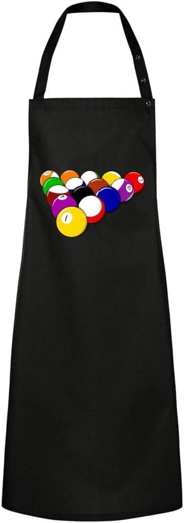Delantal de cocina – pelotas de piscina billar juego – Delantal unisex para hombre y mujer, algodón, Negro , talla única: Amazon.es: Hogar