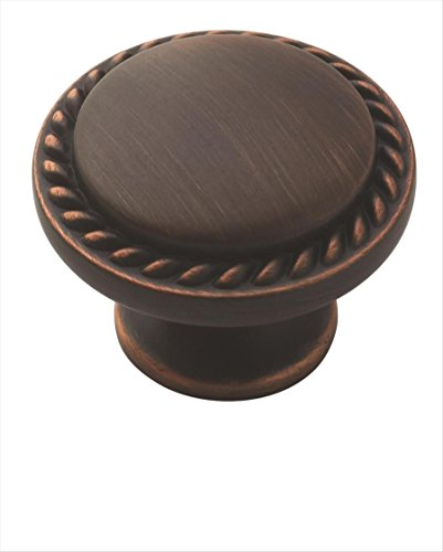Allison Value 1-3/16 in (30 mm) Diameter Oil-Rubbed Bronze Cabinet Knob - 10 Pack - 10BX53001ORB