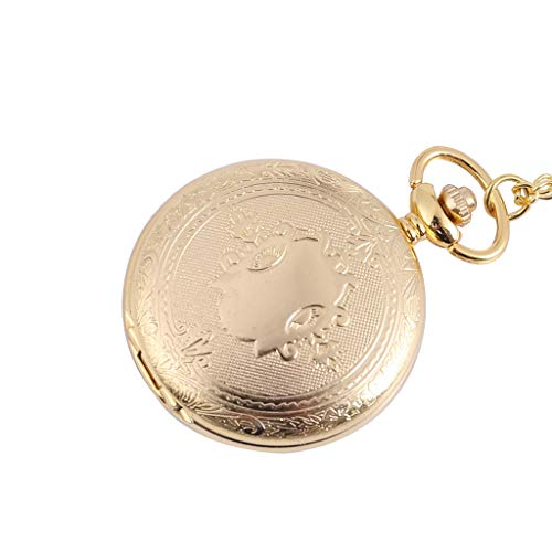 Pocket Watch with Chain for Women Tronet Personality Retro New Nostalgic Court Wind Quartz Small Pocket Watch