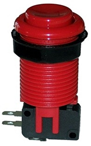 Pushbutton with Horizontal Microswitch (RED), by RetroArcade.us