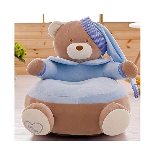 HAOLIN Cartoon Baby Bean Bags,Chair Toddler Nest Puff Seat Children Seat Sofa, Upscale Children Bean Bag,Blue-OneSize
