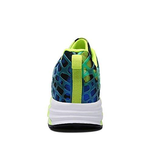 colorato abbagliamento Cricket Uomo Cuscino Traspirante Sneakers da Ammortizzante Moda Coppia e da Sportive Donna Scarpe da e Verde Corsa da d'Aria alla Scarpe Antiscivolo Casual Zwxg6