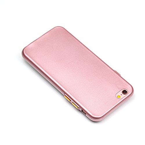 YHUISEN Caso de IPhone 6 / 6S, color sólido mate delgado apto Soft TPU Gel duradero choque de absorción de la caja protectora para IPhone 6 / 6S ( Color : Black ) Pink