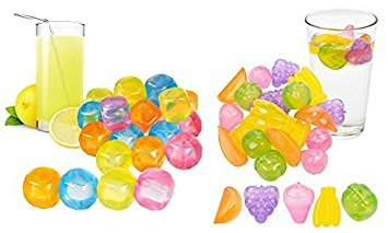 Easygift Products 20 Pieces Plastic Reusable Ice Cubes Fruit Shaped