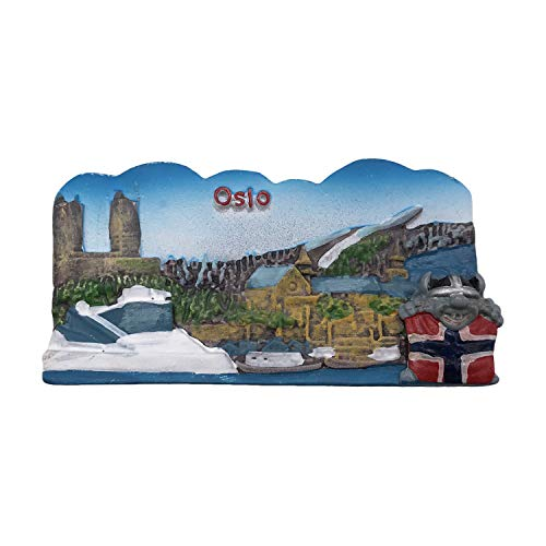 Oslo Norway 3D Refrigerator Magnet Tourist Souvenirs Resin Magnetic Stickers Fridge Magnet Home & Kitchen Decoration from China