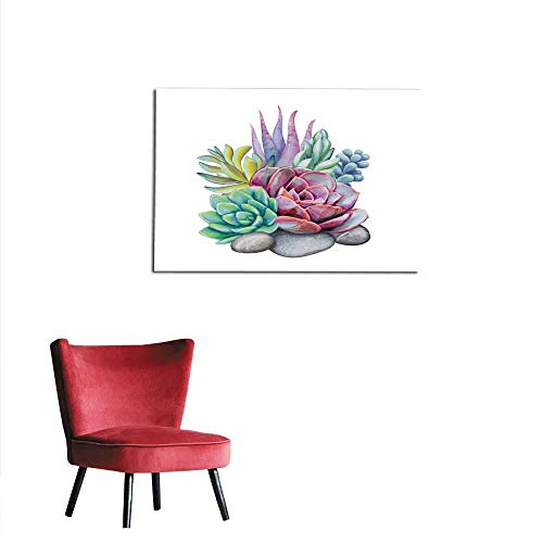 All of better Photo Wall Paper Watercolor Succulent Plants Composition Floral Bouquet Illustration Isolated on White Background Mural 20