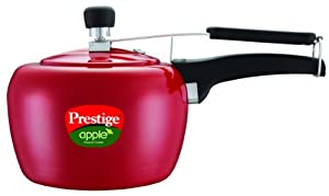 Prestige Apple Aluminum Red Color Pressure Cooker, 3-Liter by Prestige