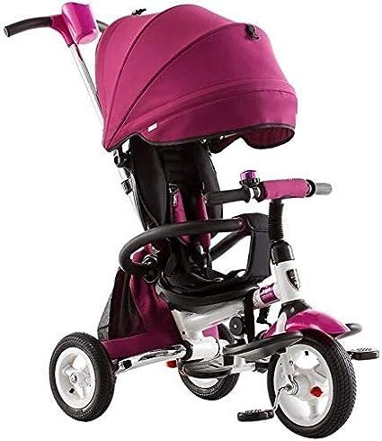 kyman Tricycle Kids Trike BEBY Carriage, Triciclo para niños, Cochecito de dirección Plegable, Carro de niños, Niños de niños 1-5 Cochecito de Triciclo para bebés Silla de Empuje Infantil (Color: 2)