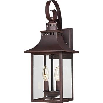 outdoor lantern lighting. quoizel ccr8408cu traditional chancellor outdoor lantern medium brown lighting