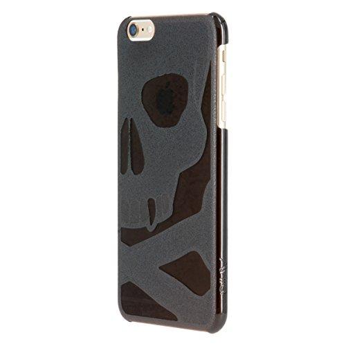 AViiQ Jack Hard Type Skull Case for iPhone 6 Plus (Black)