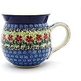Polish Pottery Mug - 15 oz. Bubble - Maraschino