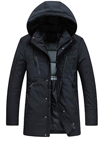 Mode À Rembourré Homme D'extérieur Blouson Noir Mallimoda Imperméable Chaud Épais Manteau Capuche Veste Hiver qYWTggd0na