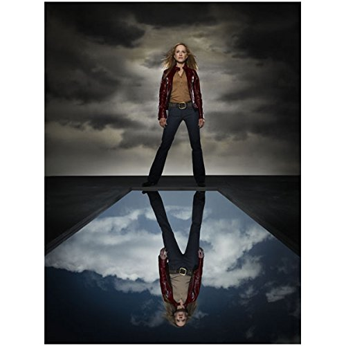 Holly Hunter 8x10 Color Standing in front of Reflecting Pool Dark Cloudy Sky Wlo by Photograph